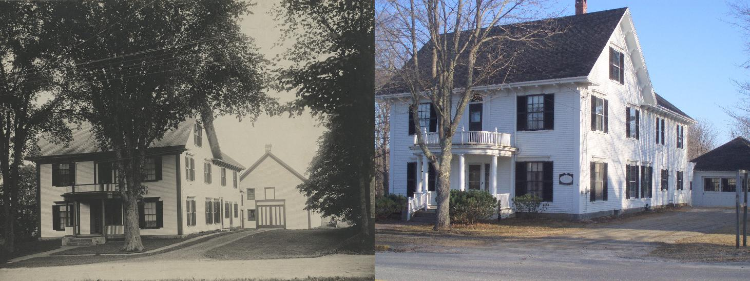 picture of Dr. Campbell House Old and Then New (home of Warren Historical Society)